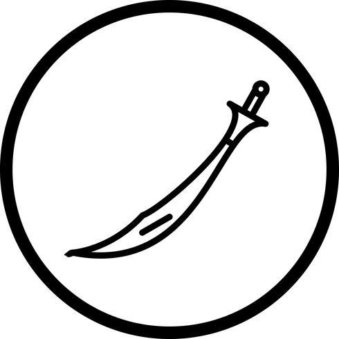 Icona di spada vettoriale