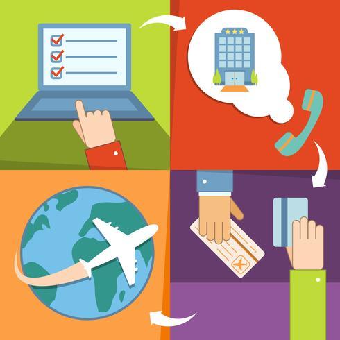 Set di icone di prenotazione e prenotazione di affari