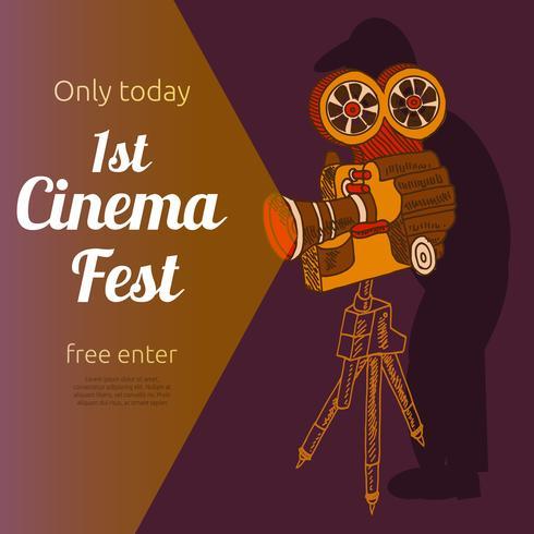Manifesto pubblicitario del festival cinematografico vettore