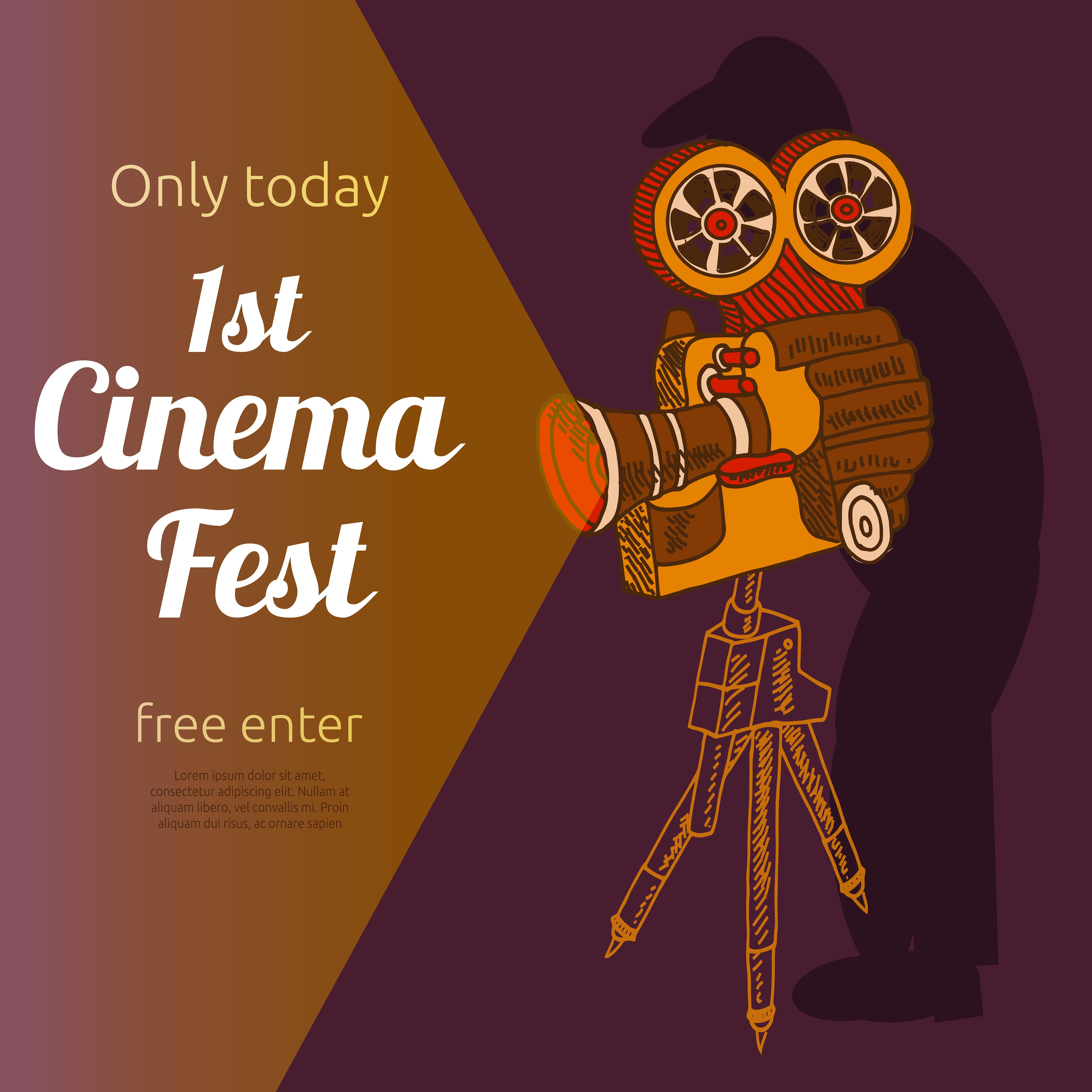 Film festival advertising poster - Download Free Vectors ...