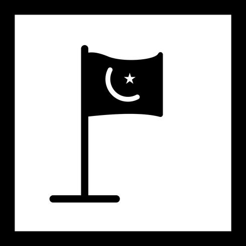 Vektor Islamic Flag Icon
