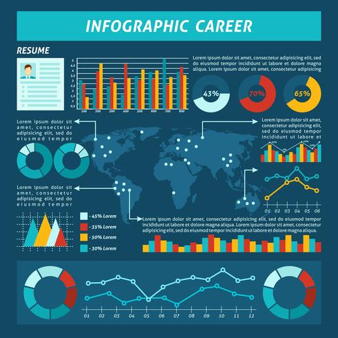 Conjunto de infografías de carrera vector
