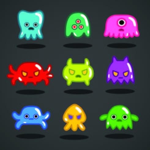 Divertido juego de monstruos de colección. vector