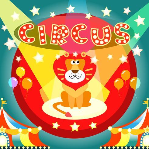 cartel de circo vector