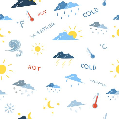 Seamless weather forecast pattern vector