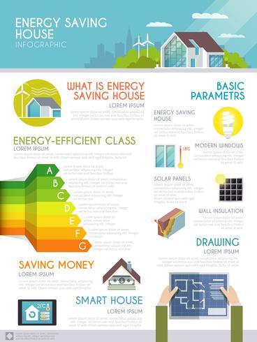 Energy Save House Infographics