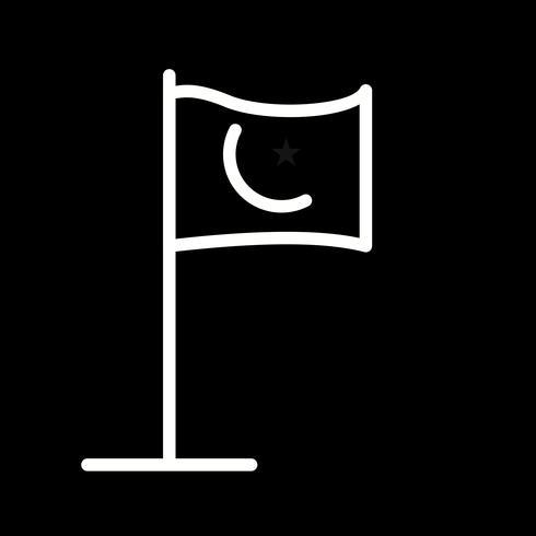 Icona della bandiera islamica di vettore