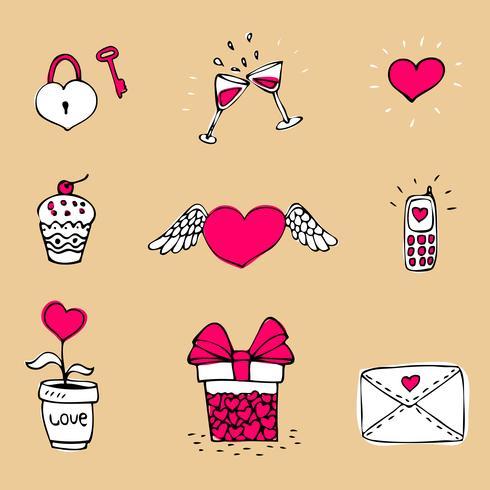 Liefde pictogrammen instellen