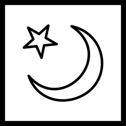 Vector icono de luna creciente