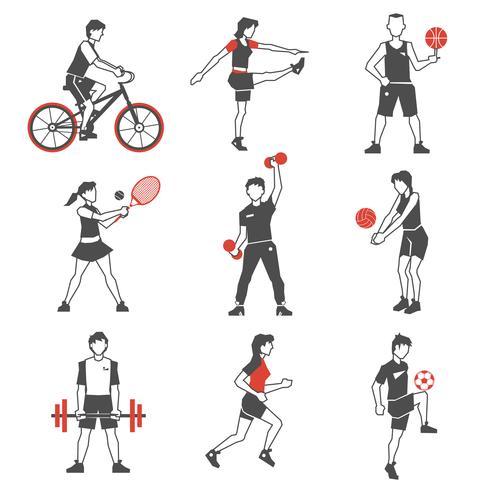 Sport People Icon Noir