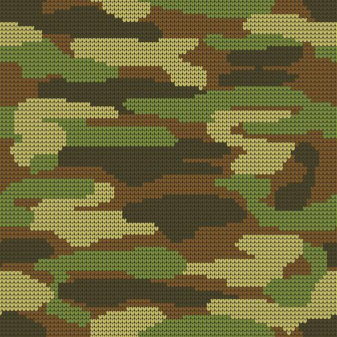 Struttura senza cuciture astratta di lavoro a maglia. Fondo decorativo militare del modello del cammuffamento. Illustrazione vettoriale