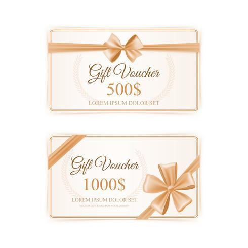 Conjunto de tarjetas de regalo elegante vector