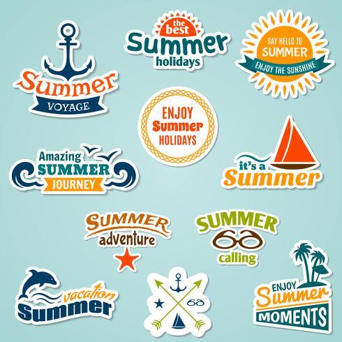 Autocollant élément d'été