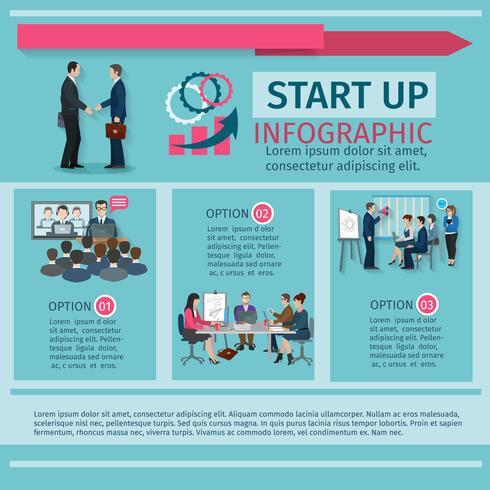 Set infographie conférence vecteur
