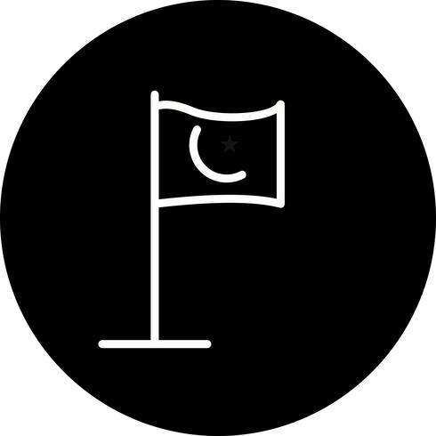 Vektor Islamic Flag Icon