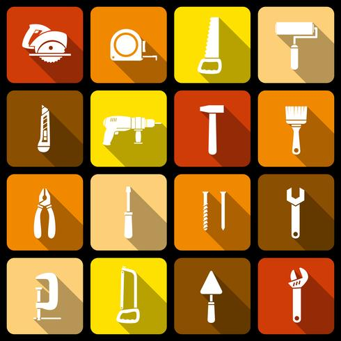 hulpmiddelen pictogrammen instellen vector