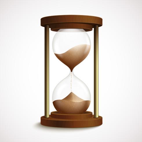 Relógio retrô de ampulheta