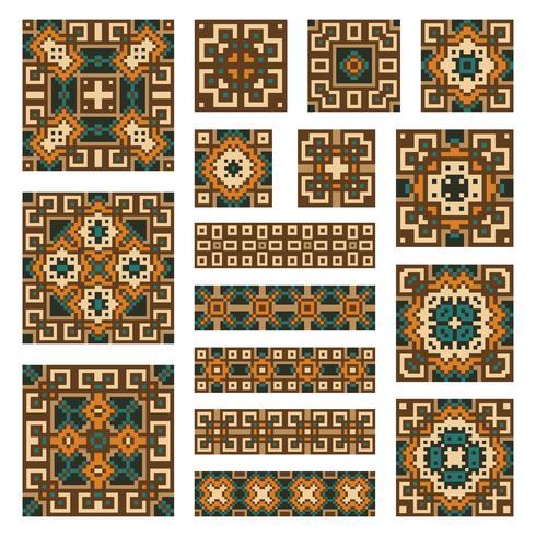 Definir coleções de bordas geométricas e telhas