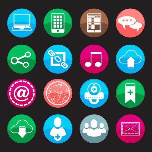Knoppen voor sociale media vector