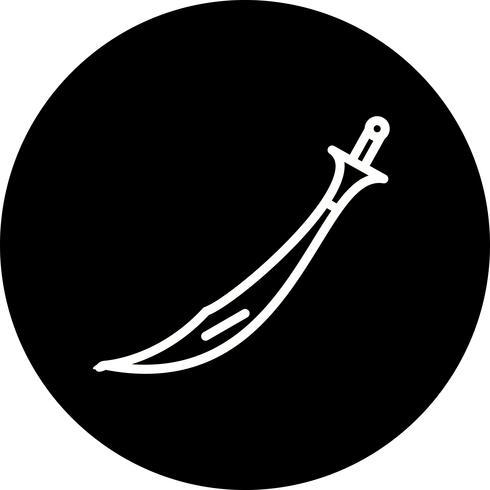 Vektor-Schwert-Symbol