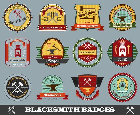Set de badges de forgeron
