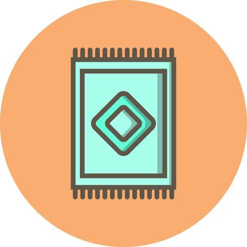 Icône de tapis de vecteur