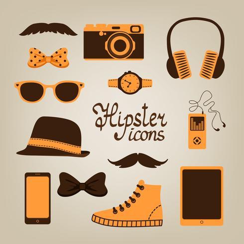 Collection d'articles de hipster vecteur