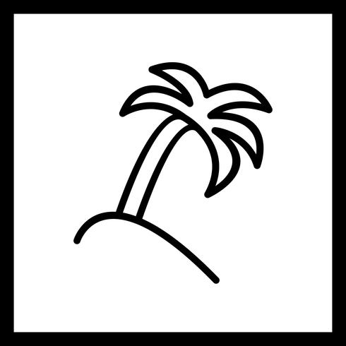 Vector Palm Tree Icon