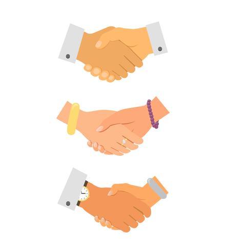 Negócios iconset de aperto de mão