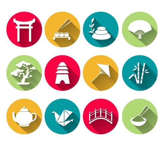 Set di icone giapponesi