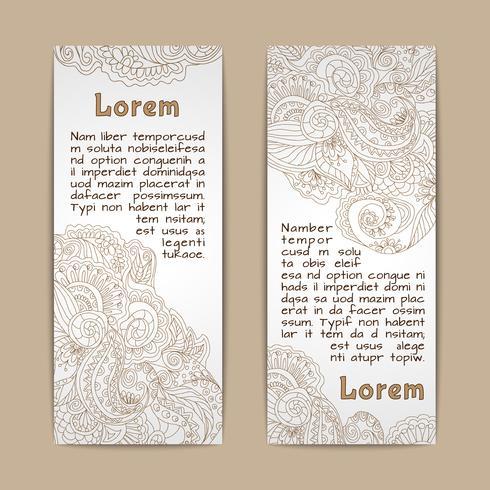 Ornamental banners vertical