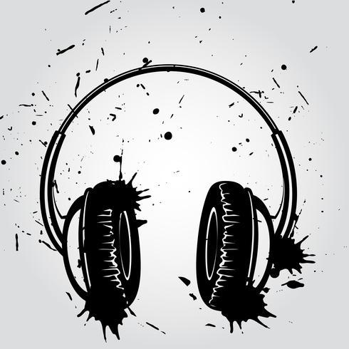 Auriculares estilo grunge