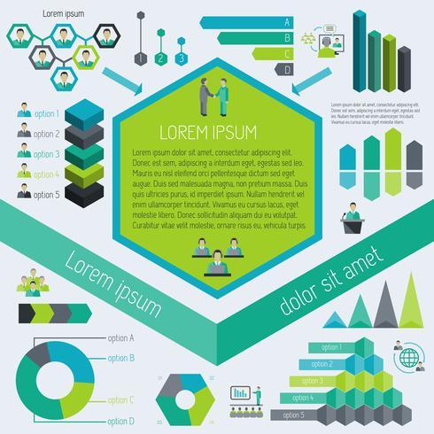 Incontro elementi infographic vettore