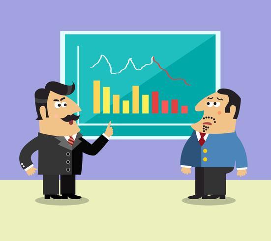 Företagsliv aktieägare scen