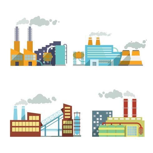 Conjunto de ícones da indústria de construção