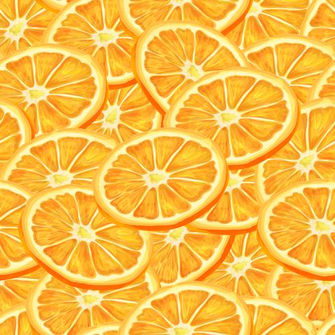 Fondo transparente naranja en rodajas