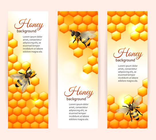 Bee banners vertical