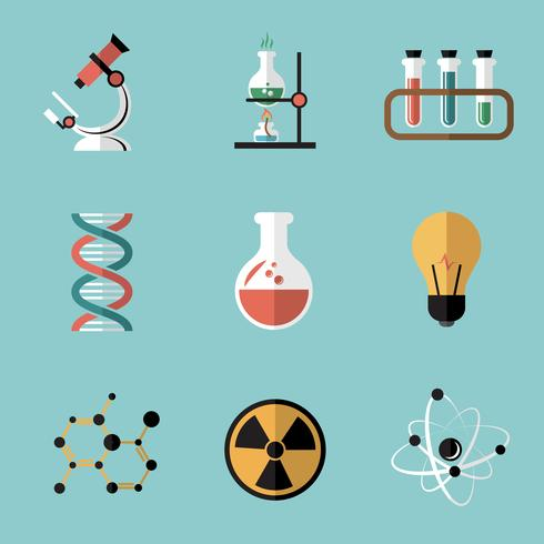 Kemi Science Flat Icons Set
