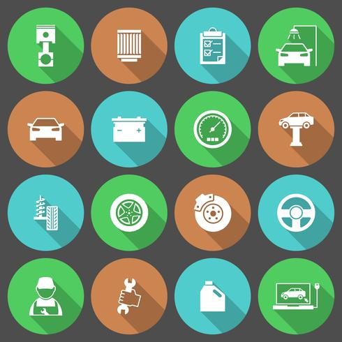 Auto Auto Service Icons Set
