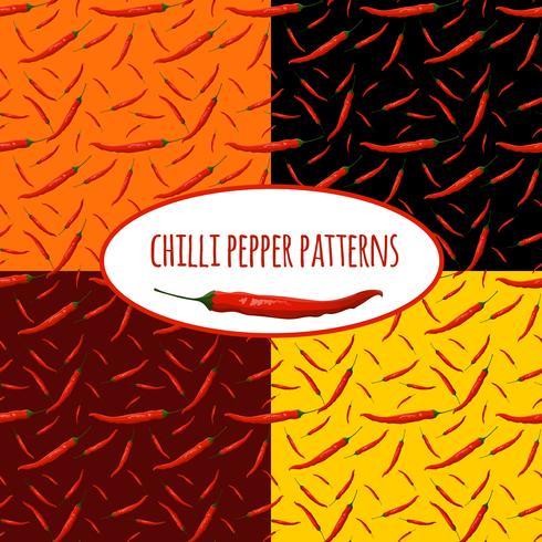 Chili peppar sömlöst mönster