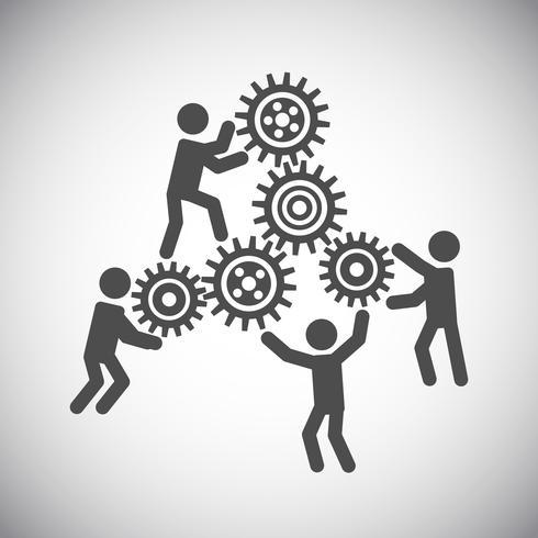 Gear teamwork concept vector