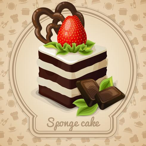 Sponge cake label