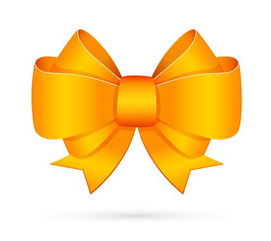 Emblema decorativo arco amarillo vector