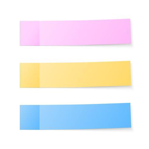 Note adesive colorate vettore