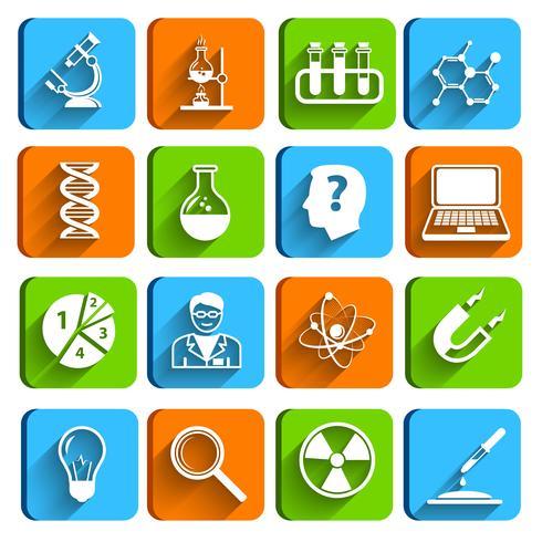 Conjunto de iconos de laboratorio de ciencia