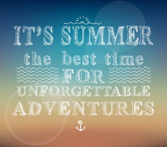 Poster di avventure estive vettore