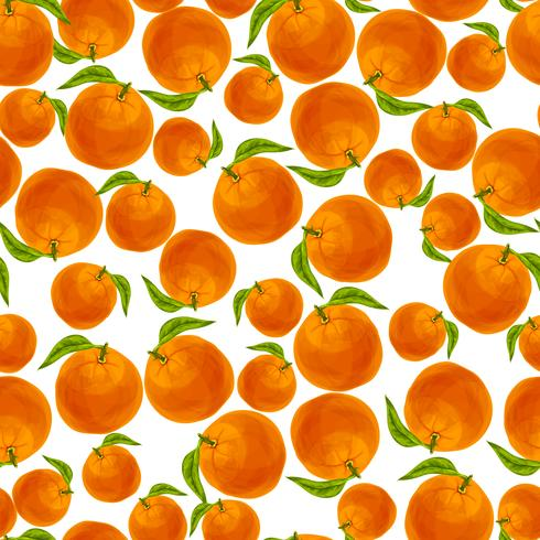 Modèle sans couture orange vecteur