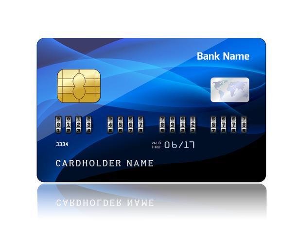 Kreditkarte mit Sicherheitscode