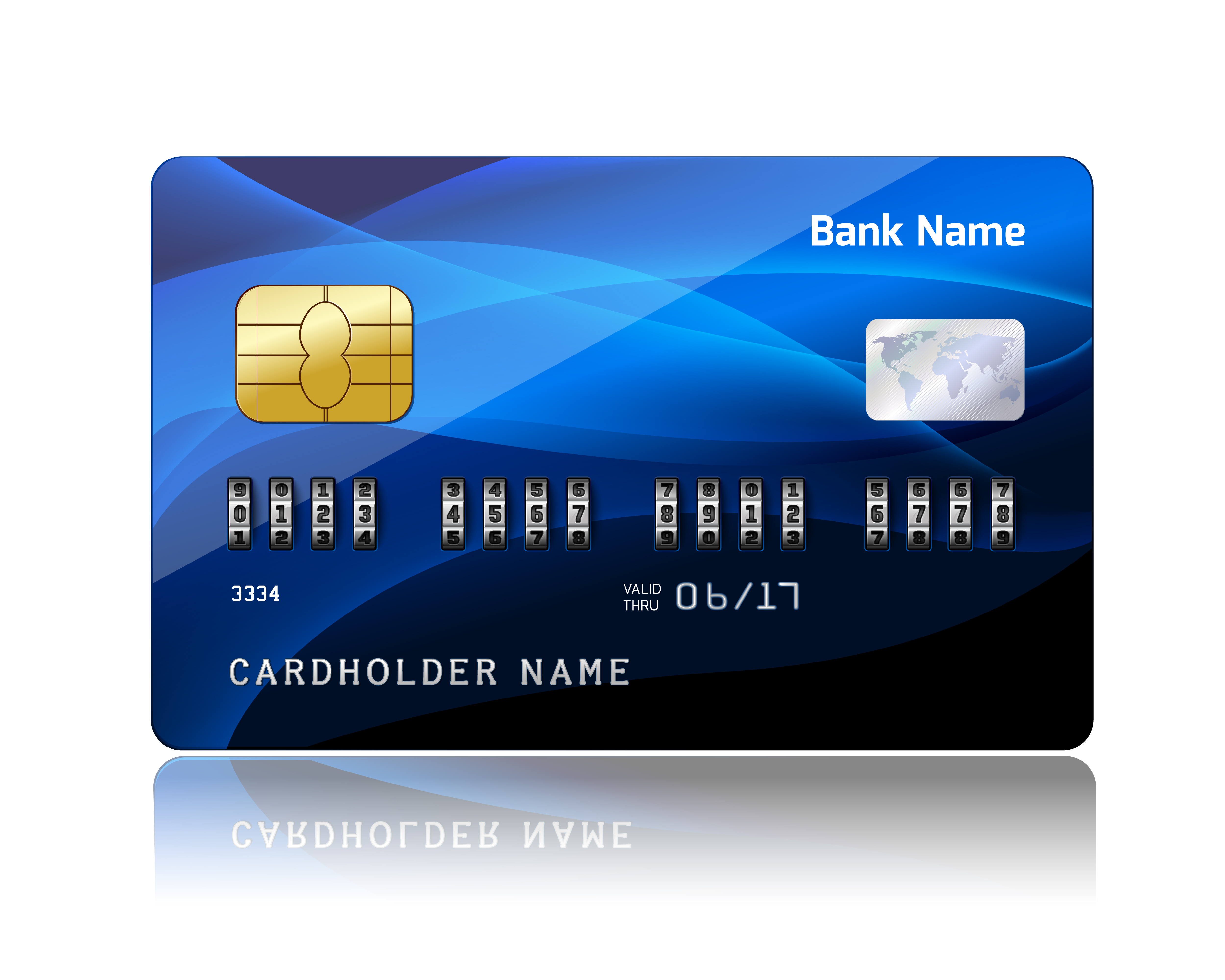 Credit Card With Security Combination Code Download Free
