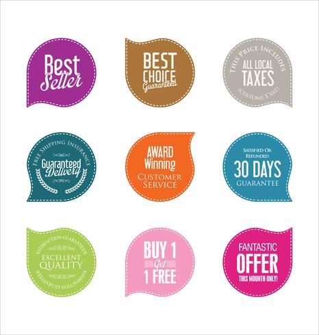 Moderne badges stickers en labels-collectie